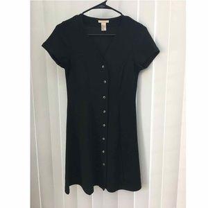 H&M Black Mini Dress Size 2